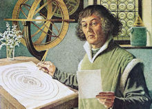 Copernicus at his desk